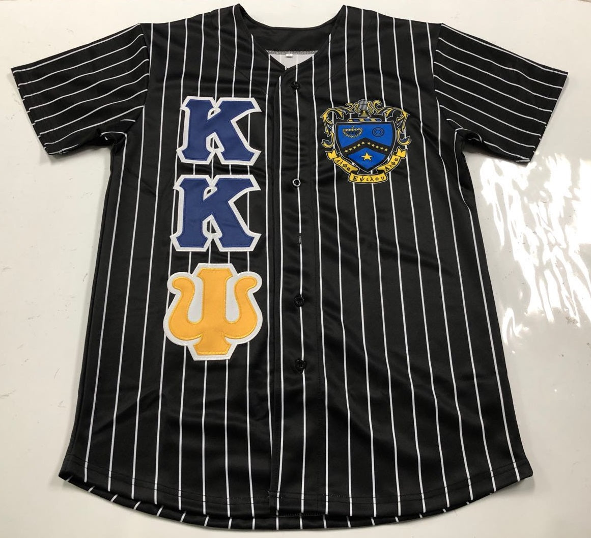 Kappa Kappa Psi - Black Baseball Jersey With Crest