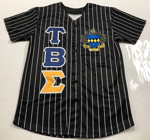Tau Beta Sigma - Black Baseball Jersey With Crest