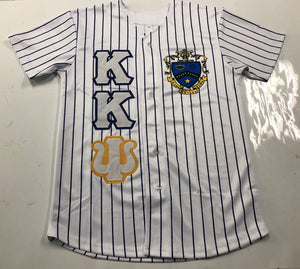 Kappa Kappa Psi - White Baseball Jersey With Crest