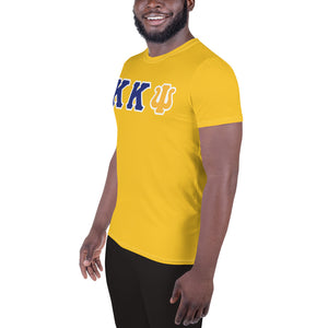 Kappa Kappa Psi - Striving Gym - Gold All-Over Print Men's Athletic T-shirt