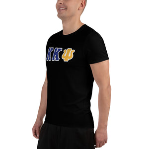 Kappa Kappa Psi - You Lift? - Black All-Over Print Men's Athletic T-shirt