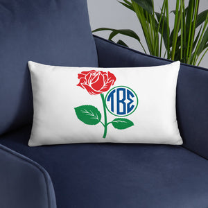 Tau Beta Sigma - Monogram Rose Frame - Basic Pillow Case w/ stuffing