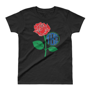 Tau Beta Sigma - Rose Frame Ladies' T-shirt