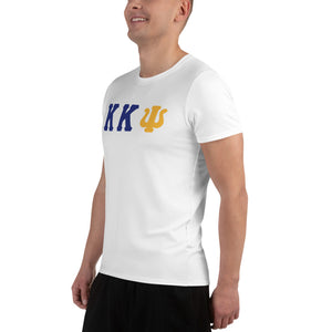 Kappa Kappa Psi - Striving Gym - White All-Over Print Men's Athletic T-shirt