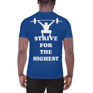 Kappa Kappa Psi - Striving Gym - Blue All-Over Print Men's Athletic T-shirt