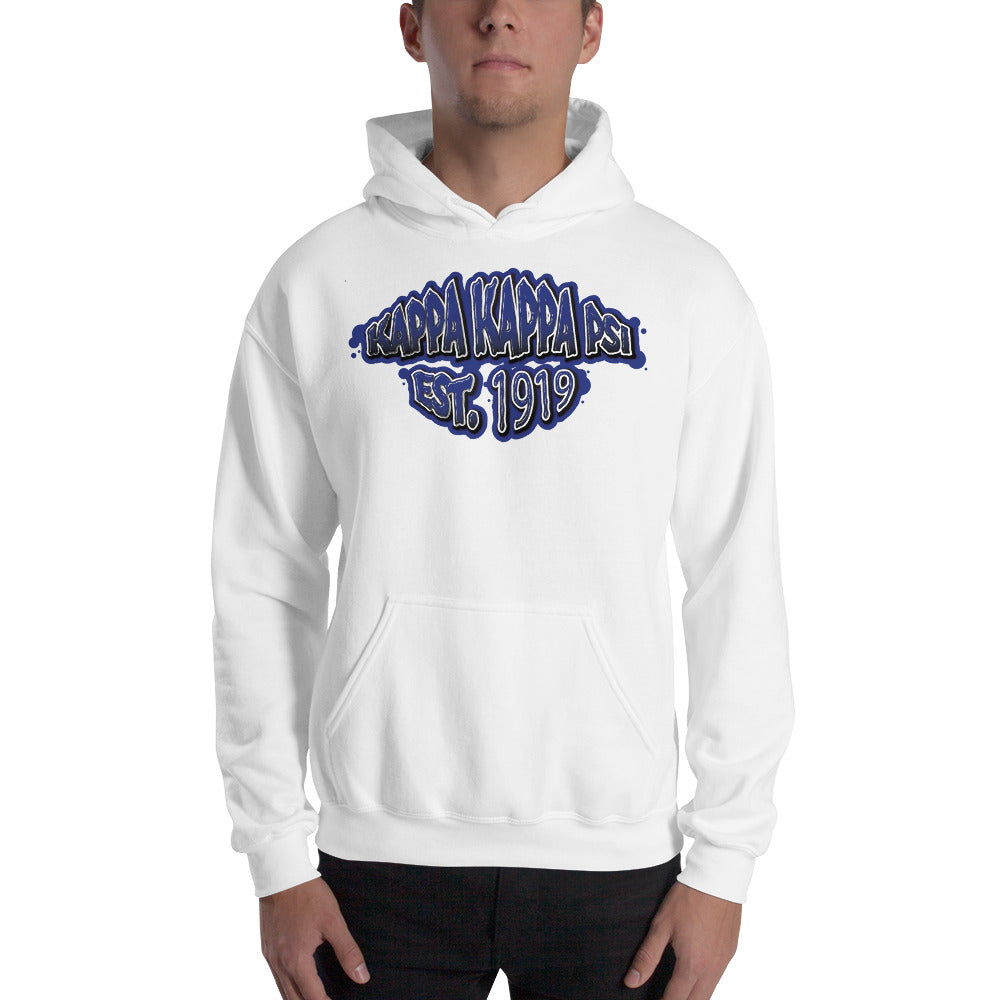 Kappa Kappa Psi - Graffiti V2 - Hooded Sweatshirt - White