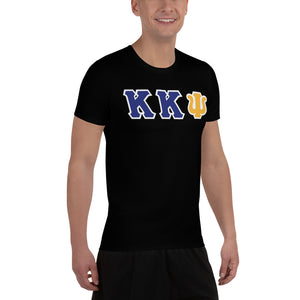 Kappa Kappa Psi - Striving Gym - Black All-Over Print Men's Athletic T-shirt