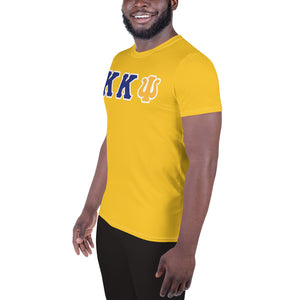 Kappa Kappa Psi - You Lift? - Gold All-Over Print Men's Athletic T-shirt