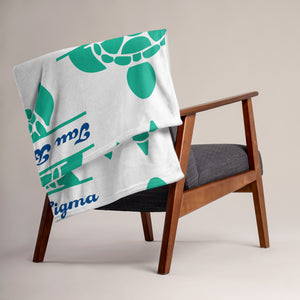 Tau Beta Sigma - Turtle - Throw Blanket