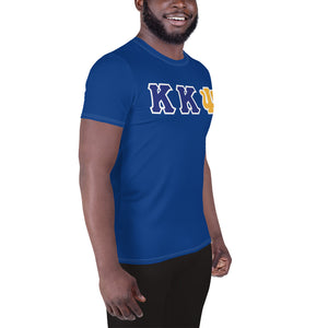 Kappa Kappa Psi - You Lift? - Blue All-Over Print Men's Athletic T-shirt