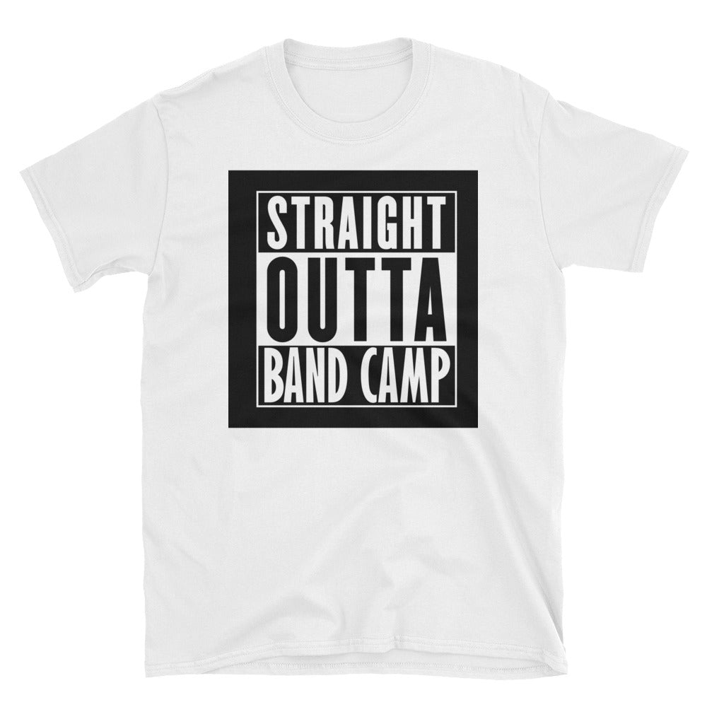 d53dee787 ... Load image into Gallery viewer, Straight Outta Bandcamp - Short-Sleeve  Unisex T- ...