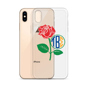 Tau Beta Sigma - Monogram Rose Frame - iPhone Case