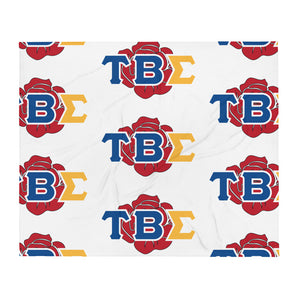 Tau Beta Sigma - Greek Rose - Throw Blanket