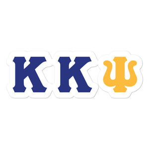 Kappa Kappa Psi - Blue/Gold Bubble-free stickers