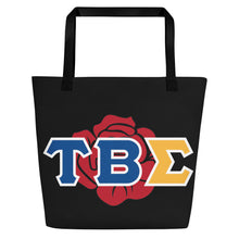 Load image into Gallery viewer, Tau Beta Sigma - Greek Rose - Beach Bag