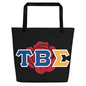 Tau Beta Sigma - Greek Rose - Beach Bag