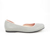 Aglaea Ballet Flat: Light Gray w/Blush Pink Trim