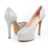 Aglaea Platform: Light Gray w/Blush Pink Trim