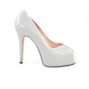 Euphrosyne Platform: Light Gray w/Blush Pink Trim