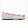 Hacho Ballet Flat: Light Gray w/Blush Pink Trim