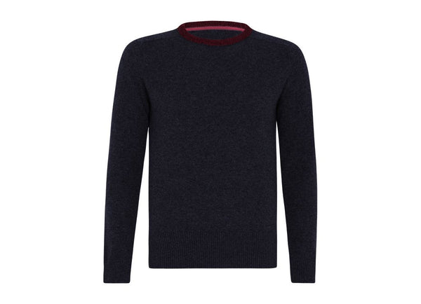 Balto: Navy/Red - Khunu yak wool