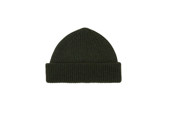 Fisherman Beanie: Green - Khunu yak wool