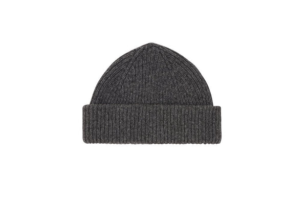 Fisherman Beanie: Grey - Khunu yak wool