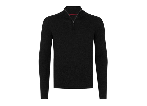 Quarter Zip: Black - Khunu