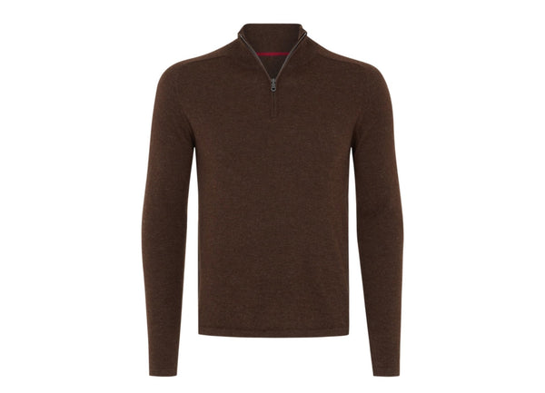 Quarter Zip: Brown - Khunu