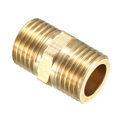 Pipe To Pipe Male Coupler Hex Nipple 1/4'' (Brass) P/N: GG3325X4