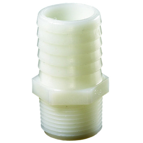 "Nylon Hose Barb Fitting 1/2"" x 1/2""  P/N: GGTN44"