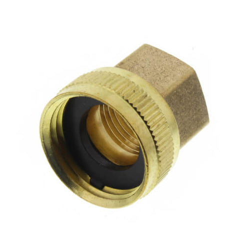 Brass Swivel 3/4'' FGHT x 1/2'' FPT Adapter P/N: GGBAS974