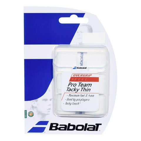 Babolat Pro Team Tacky Overgrip 3 Pack wht