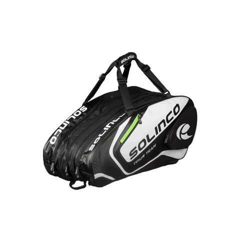 Solinco Tour Team 15 Racquet Bag - White/Black/Green