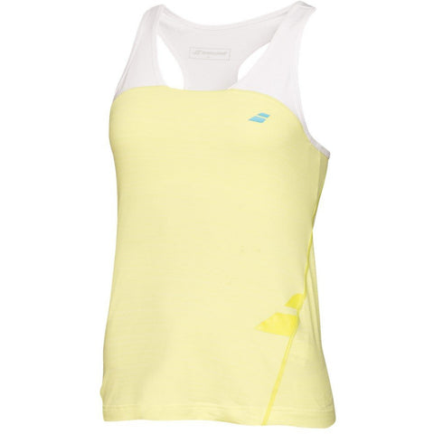Babolat Girls Performance Racerback Tank lime