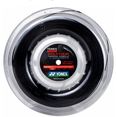 Yonex Poly Tour Tough 125 200m Reel - Black
