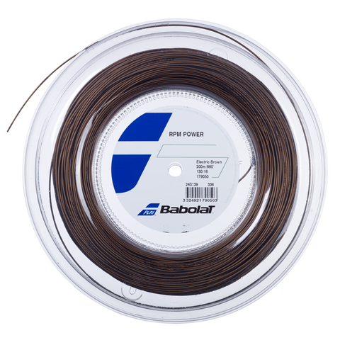 Babolat RPM Power 125 200m Reel - Electric Brown