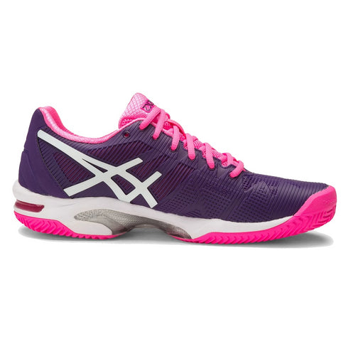 Asics Womens Gel Solution Speed 3 Clay purple/white/pink