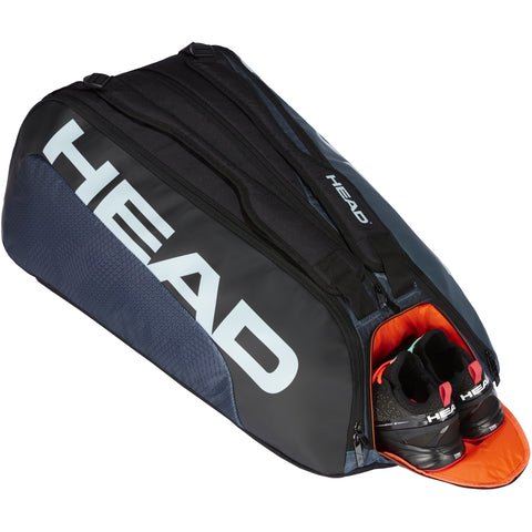 Head Tour Team 12 Racquet Monstercombi - Black/Grey