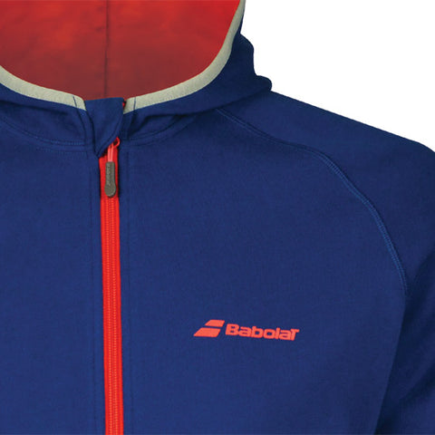 Babolat Mens Core Hooded Sweat - Estate Blue