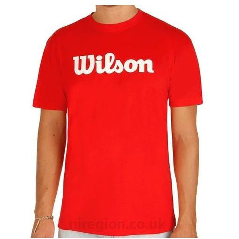 Wilson Script Tech Tee red/white