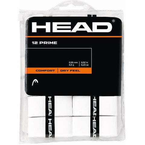 Head Prime Overgrip White 12 Pack