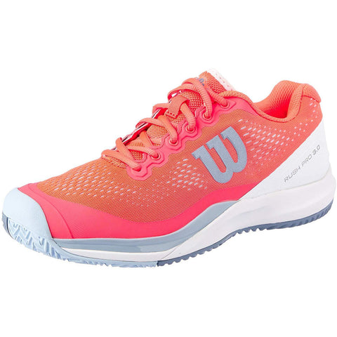 Wilson Womens Rush Pro 3.0 fiery coral/white/cashmere blue
