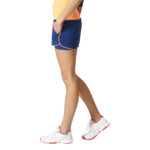 Adidas Womens Court Short blue/orange