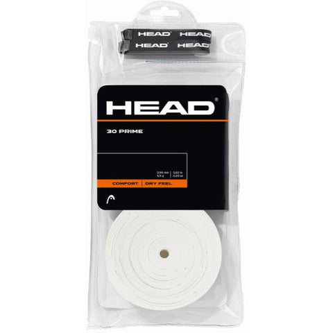Head Prime Overgrip White 30 Pack