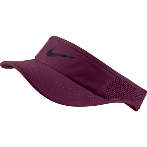 Nike Womens Aerobill Visor bordeaux/black