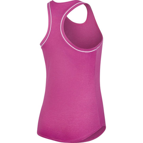 NIKE WOMENS COURT DRI-FIT TANK ACTIVE FUSCHIA/WHITE
