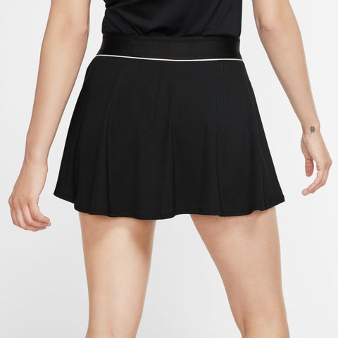 Nike Womens Court DriFit Skirt - Black/White