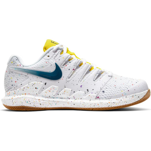 Nike Womens Air Zoom Vapor X - White/Valerian Blue/Opti Yellow/Wheat