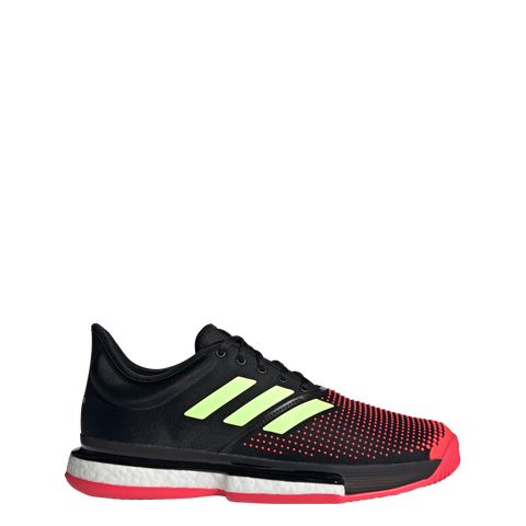 Adidas SoleCourt Boost - Black/Hi-Res Yellow/Shock Red